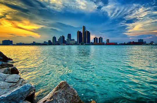 November 2017 - Sunset over the City of Detroit is always a beautiful sight. Scroll down to learn of...