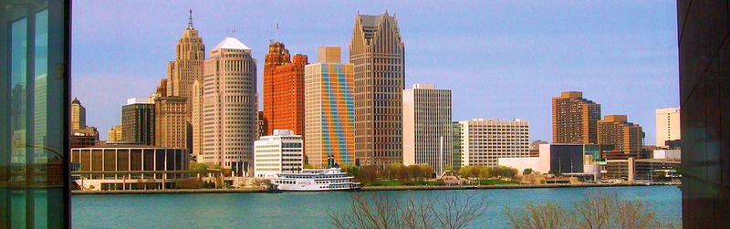 August 2017 - The buildings along the Detroit riverfront are as varied and colorful as the people who keep the...