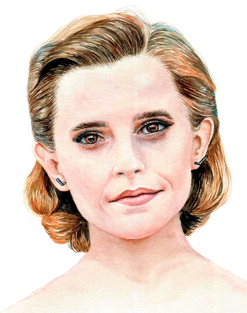 Watercolour Portrait of Emma Watson