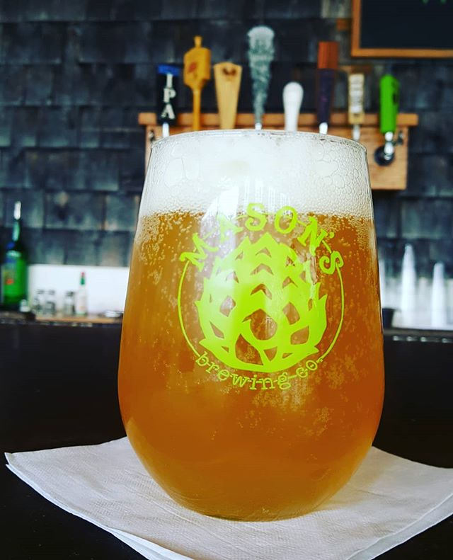 Mason's Hipsterapocalypes is on draft at the Parrilla its an IPA with 5.7 ABV  #craftmaine #mainecraftbeer #hipsterapocalypse #masonsbrewingco #maineme #mainevacation #havanamaine #havanaparrilla #ipa #summerbeer #drinkmaine