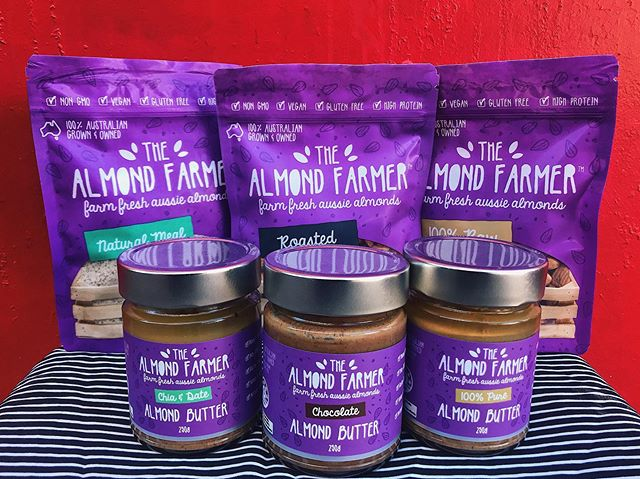 The Almond Farmer range is in store now! Made with farm fresh Aussie Almonds 🙌🏼 . Who doesn't love a good buy butter 😋 . Almond Butters: Pure, Chocolate and Chia & Date, Fresh Almonds: Roasted or raw & Almond Meal . . #nongmo #vegan #glutenfree #highprotein #australiangrown #almondbutter