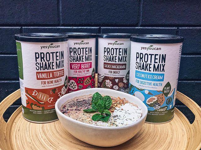 Yesyoucan🌱Protein Shake Mix - more than just vegan protein! . Each delicious flavour has added benefits: Vanilla Toffee - bone health  Very Berry - healthy skin Cacao & Macadamia- energy Coconut Ice Cream- digestion . . #glutenfree #vegan #soyfree#dairyfree #nongmo #noaddedsugar