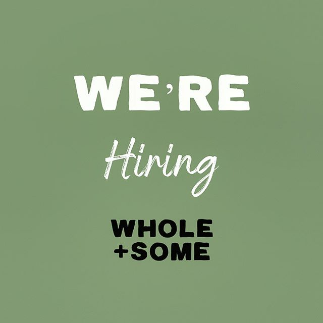 . Are you passionate & knowledgable about food and health? We need new members to join our retail store team! . • 15-20 hours per week • Friday nights & Saturday availability essential • Previous experience in retail/ hospitality preferred • Excellent customer service skills • Current studies in nutrition or natural therapies is desirable . . If you are interested in joining our team please email your resume to: shop@wholeandsome.com (please no phone calls or visits to store)