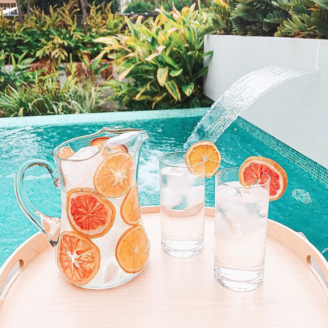 Dreaming of Summer ☀️ in Winter ❄️with this refreshing pitcher garnished with WHOLE+SOME dehydrated citrus 🍊 🍋 . Weekend drinks sorted! . #citrus #pitcher #dehydratedfruit #garnish #yum #weekendvibes #gin #jug