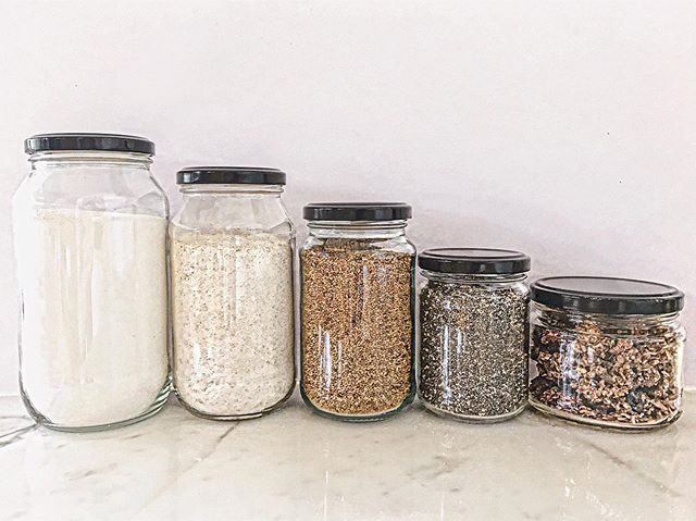Have you swapped to bulk food options yet to reduce waste? Fill up your own jars & containers or use these jars provided in store! . Reduce, reuse & recycle where ever you can ♻️💚🌏👏🏽 . #zerowaste #wastefree #reducereuserecycle #bulkfoods #reuse #plasticfree #pantrygoals