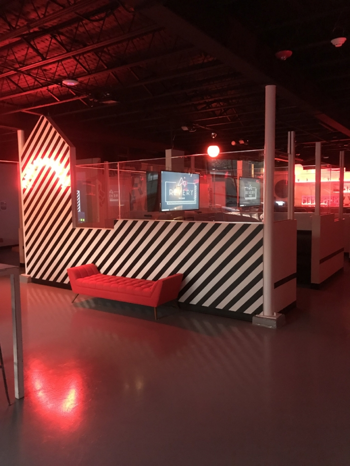 Interior of Revery, the nation's first full bar to incorporate virtual reality technology