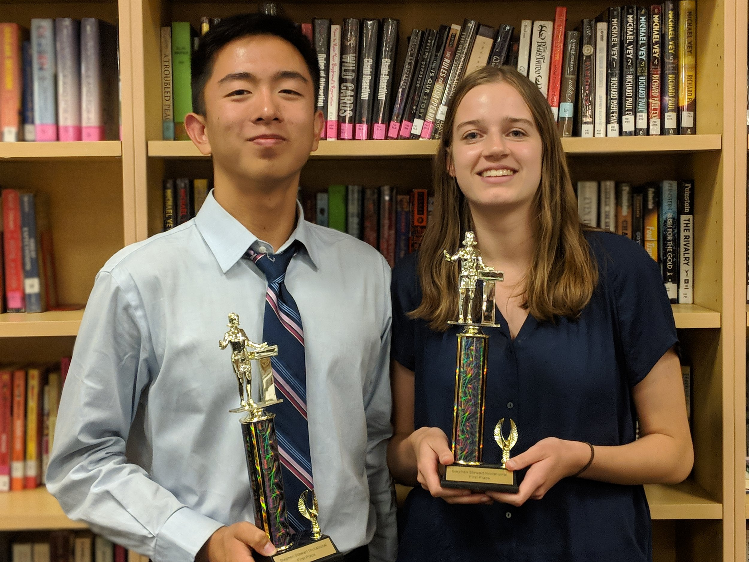 Ryan Lee (left) and Sophie Stankus (right) after winning the tournament.