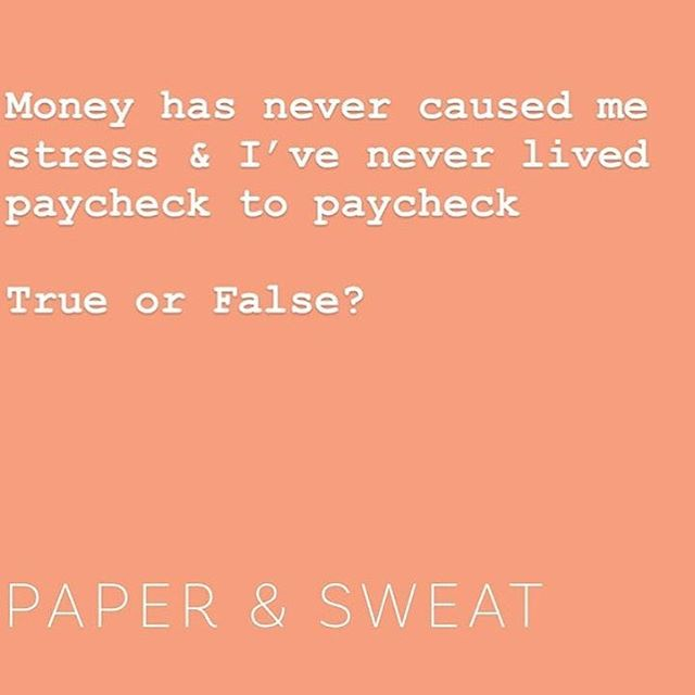 Financial Anxiety — One of the reasons @paperandsweat was created 🤦🏽‍♀️🤷🏼‍♂️ We earn money each day, we spend money each day, so why not have a good relationship with it ✨ Head to paperandsweat.com to learn more 📚