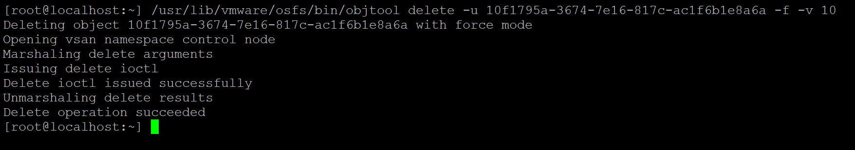 Deleting inaccessible objects from the node