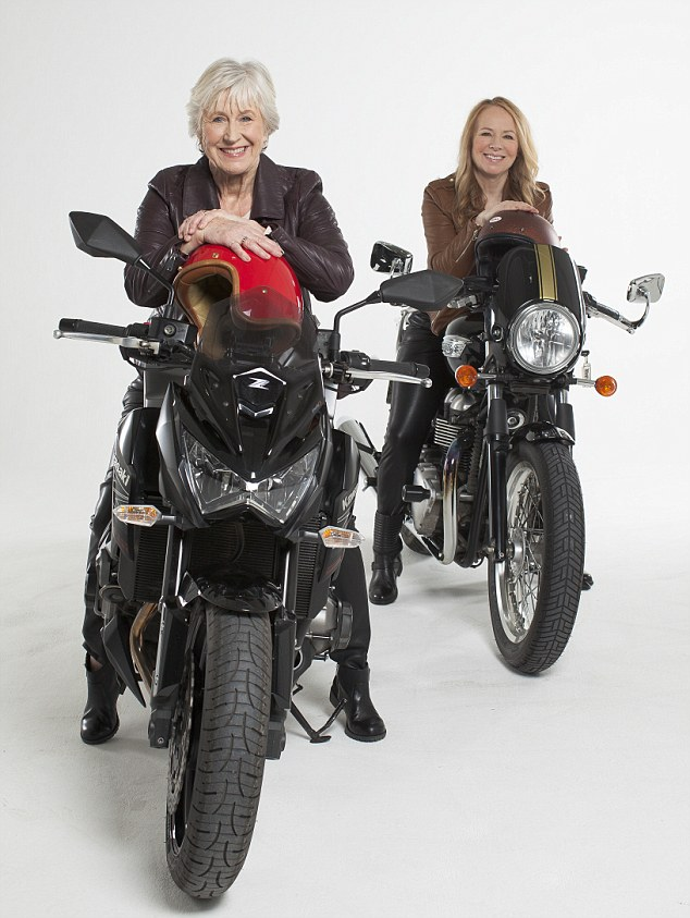 Joy Smith (left) and Christine Langton (right) both took up riding motorbikes later in life