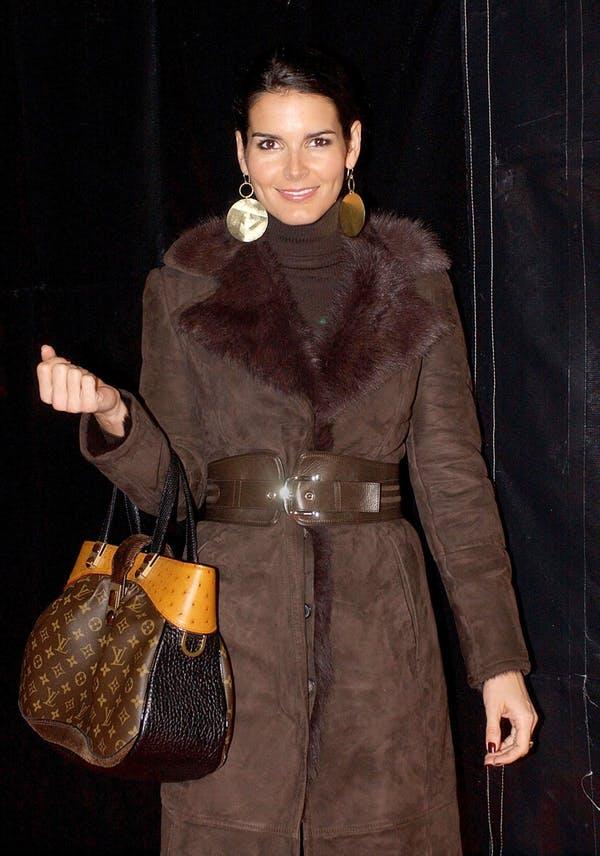 Angie Hammon carrying a Louis Vuitton handbag