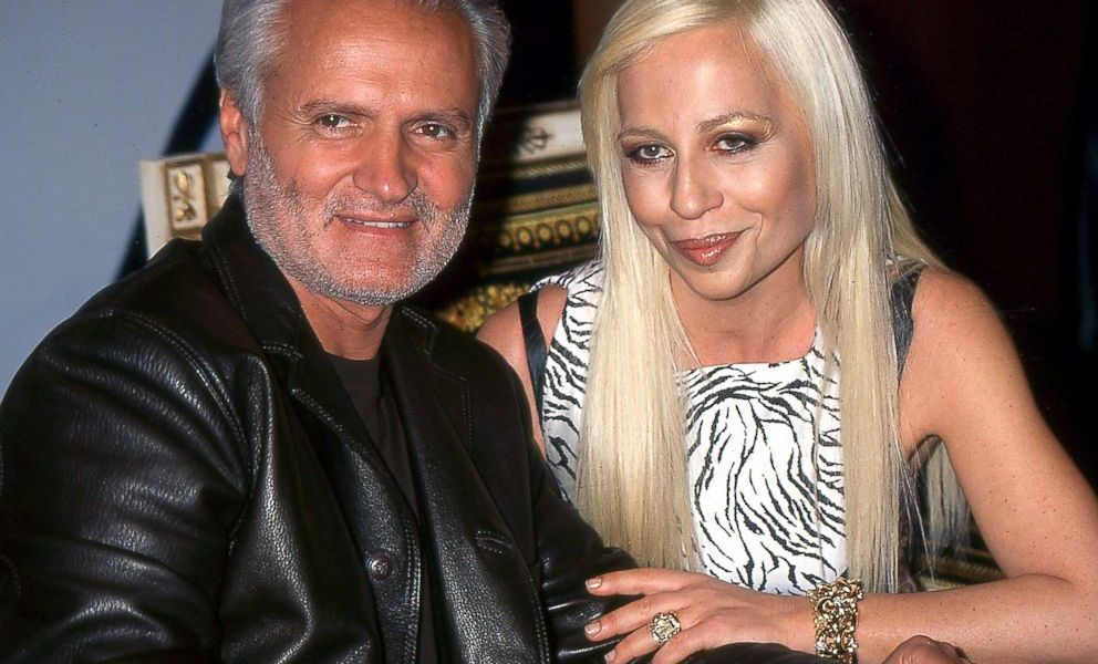 Donatella with brother Gianni