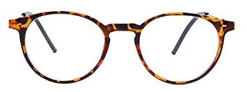 Fuyingda Round Full Frame Short Sighted Glasses, Women Men Nearsighted Eyeglasses Myopia Goggle Spectacles Eyewear