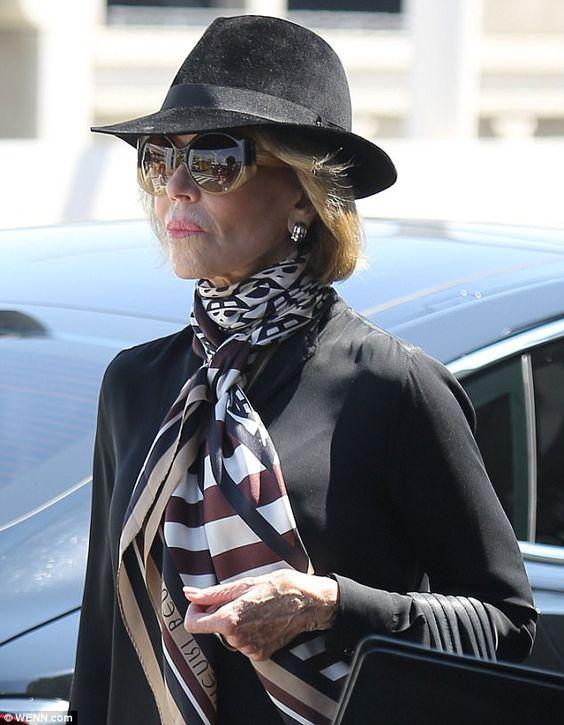Jane Fonda looking quiet demure!