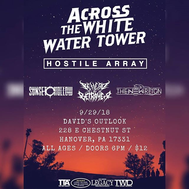 THIS SATURDAY!! #thenewreign #metalcore #deathcore #beheadthebetrayer #acrossthewhitewatertower #sunsethollow #hostilearray #music #davidsoutlook