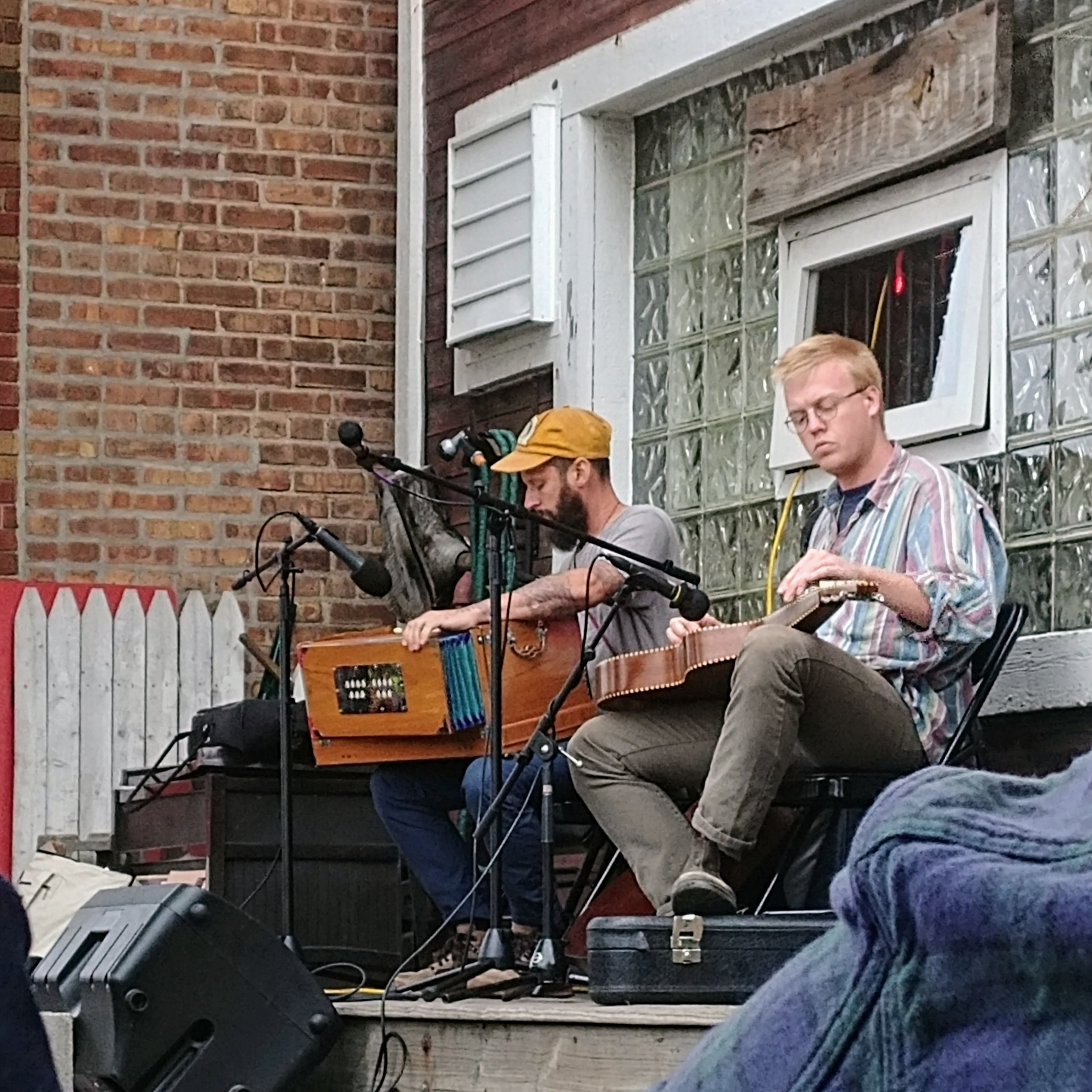 Daniel Bachman on the porch of the Hideout