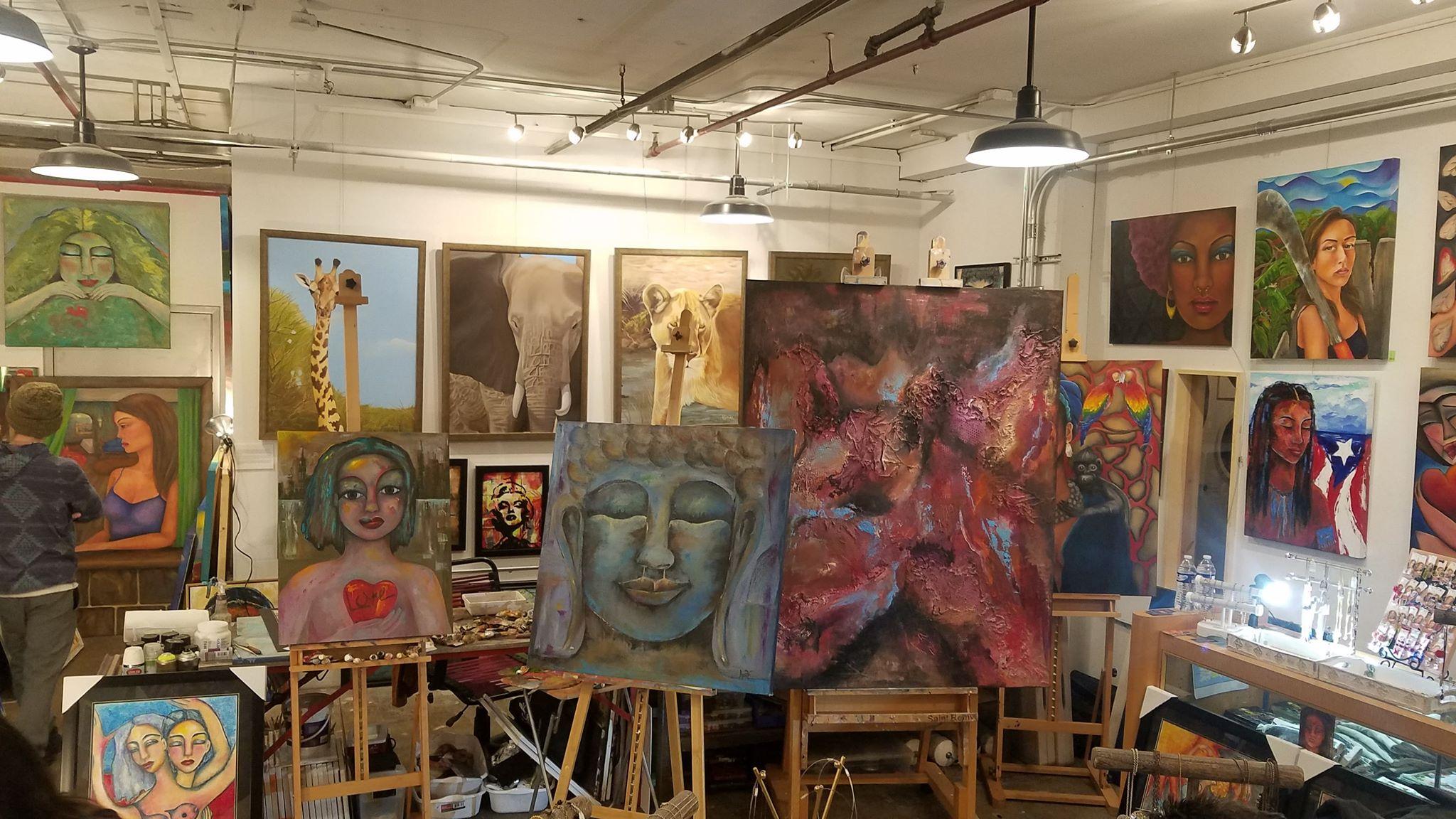 Artwork on display at Workshop 4200