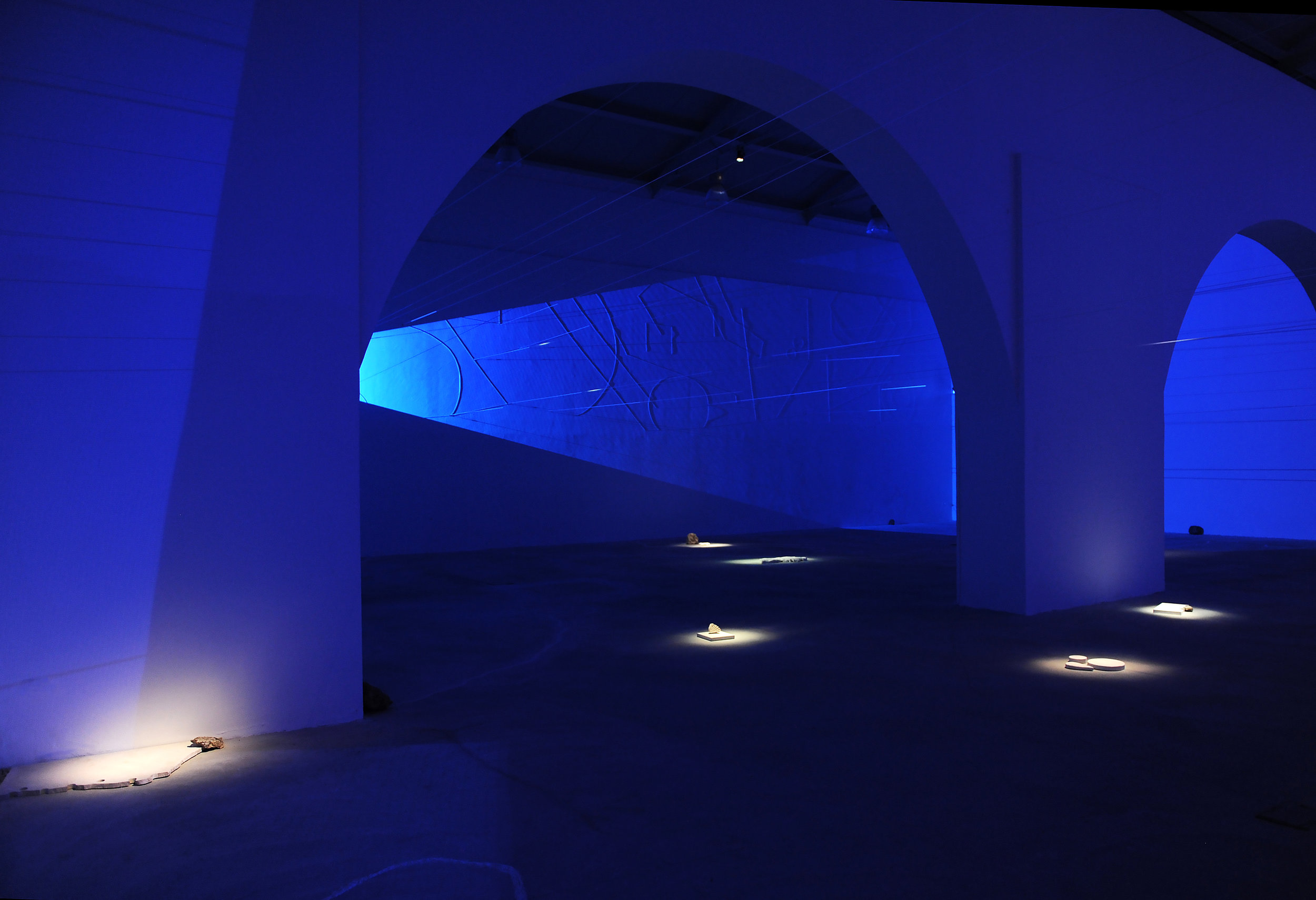 Installation view of   Intimacies (Mediterranean Civilization  ), Fondazione Brodbeck, Catania, Italy