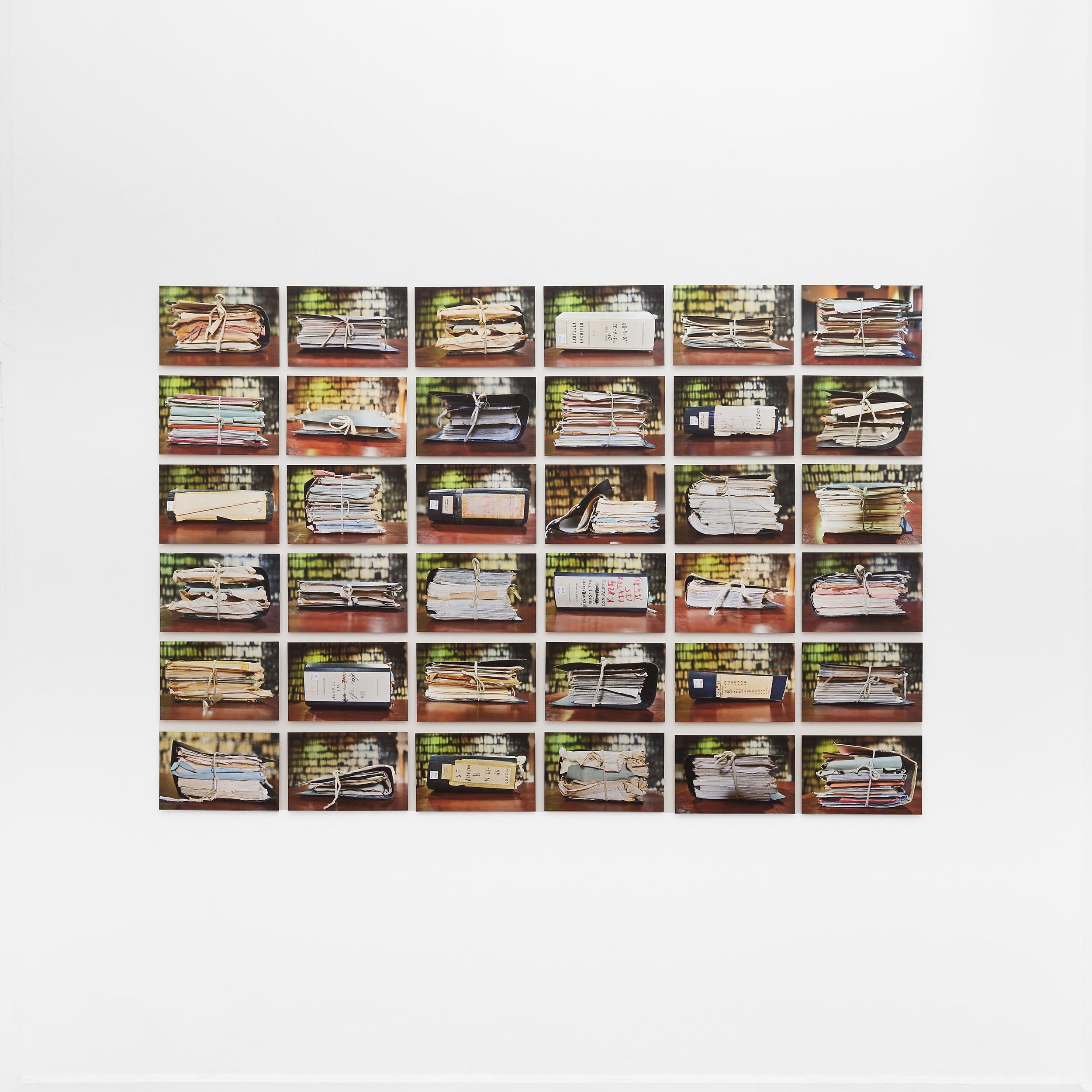 Memorandus  , 36 pigment ink prints mounted on aluminum, 20x30cm each