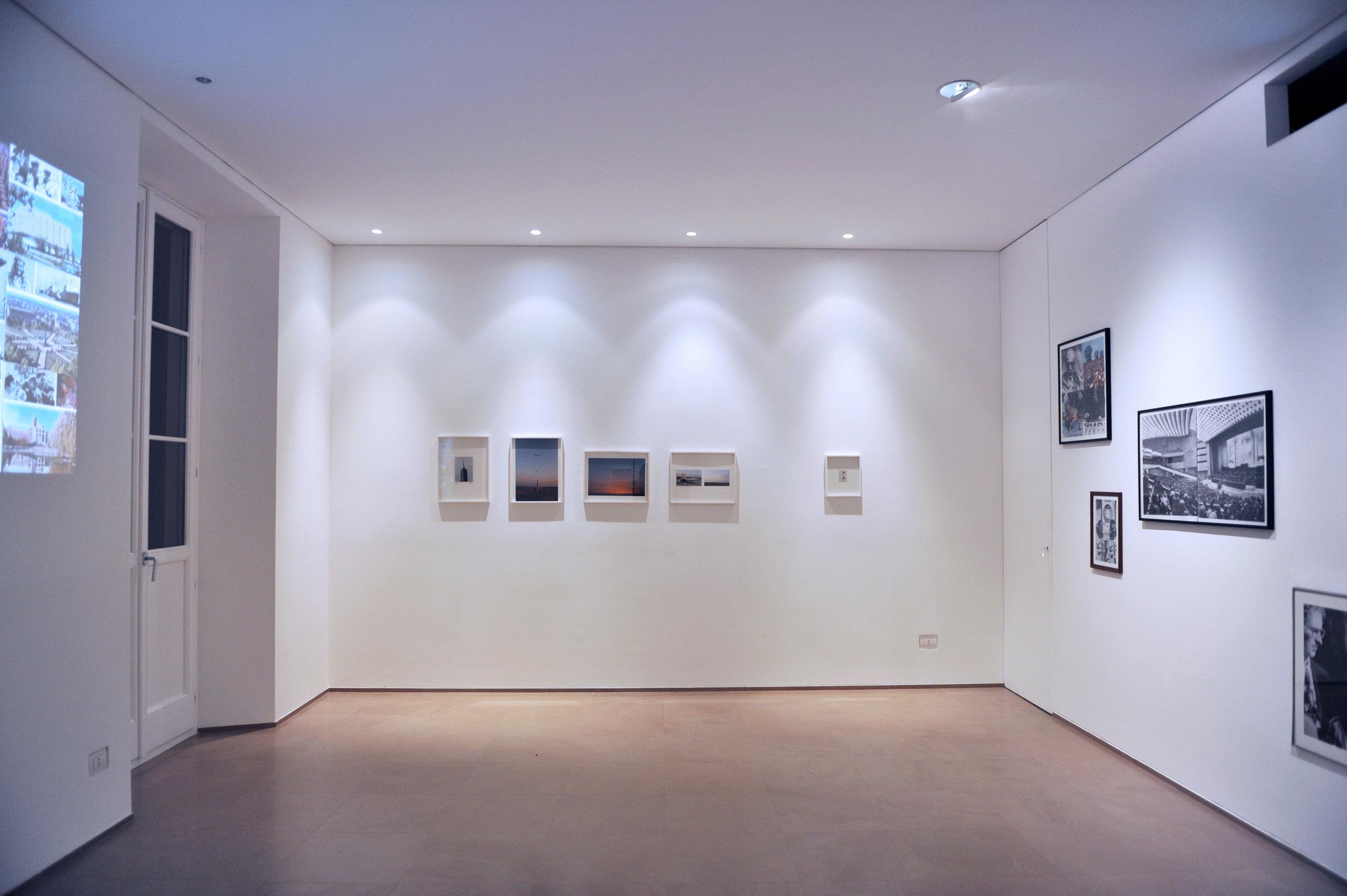 Installation view of   Rotta di Collisione