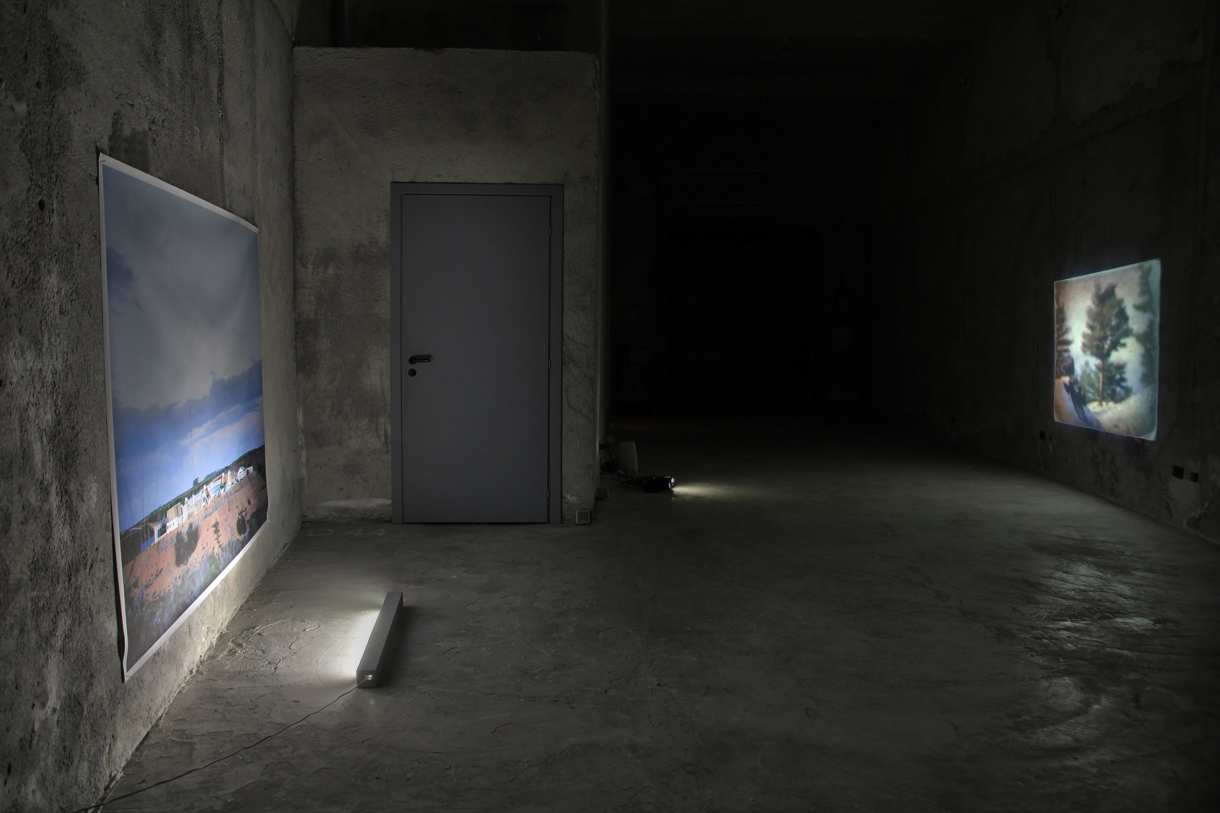 Installation view of   Disrupted Accounts