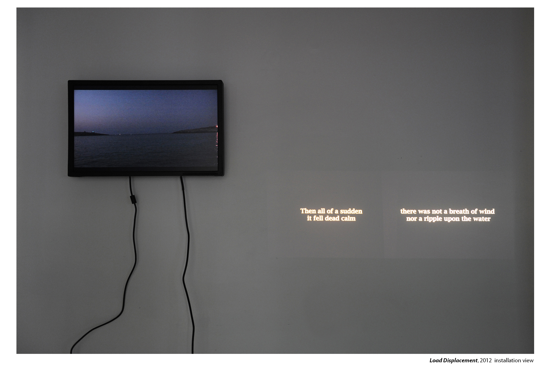Load Displacement , 2012, installation view at the Bowery, New York