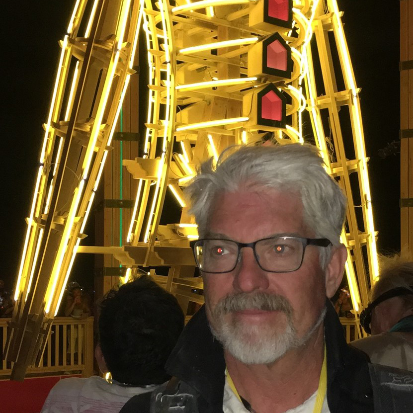 Randy Butera   Randy CPU Joins the crew with ample build experience and battery expertise under his belt. He is a former Project Manager at Burning Man, an overall lover of the burn, and we are lucky to have him oversee much of our high voltage needs.