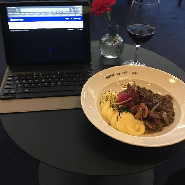The ARN (Stockholm) AMEX airport lounge has amazing sauteed reindeer. May be the beat meal I ever had in an airport. And it's comped too. #yum #airportlounge #airportloungelife #stockholm #amexplatinum #pointsandmiles
