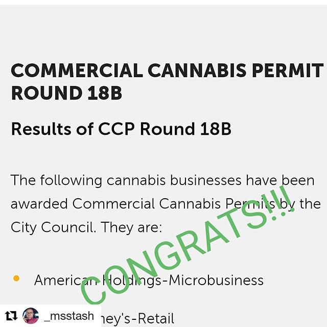 #Repost @_msstash  Hayward: 74 applications passed screening. 15 were given permits and 2 of those were @tulipandoak clients CONGRATS!! 🎶💚🔥#results #420consulting #allpublicinfo #compliantcannabis #smokeone #dreamwork #only3dispensaries #needapermit