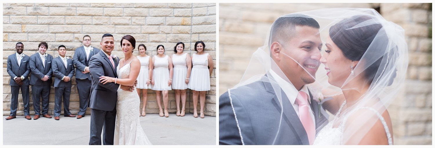 With all of the bride/groom portraits and bridal party pictures out of the way before the ceremony, that leaves only family formals before the reception.