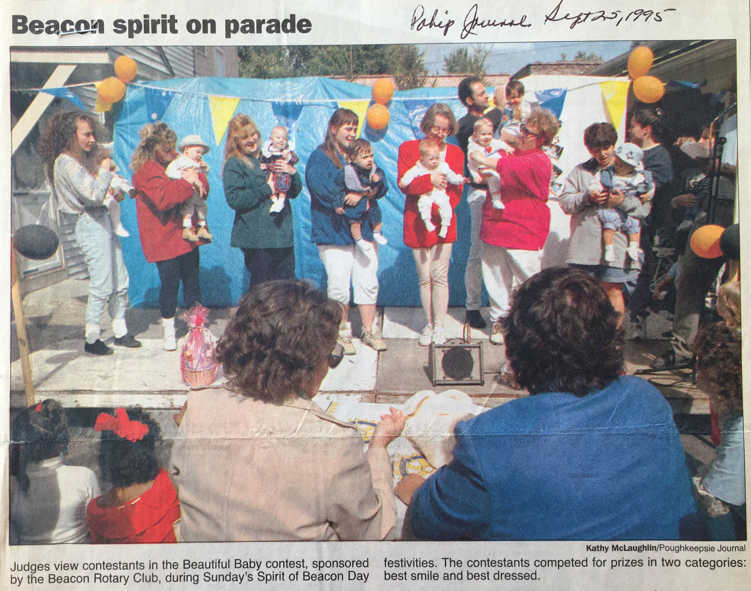 Spirit of Beacon Day 1995, courtesy Beacon Historical Society/ Poughkeepsie Journal