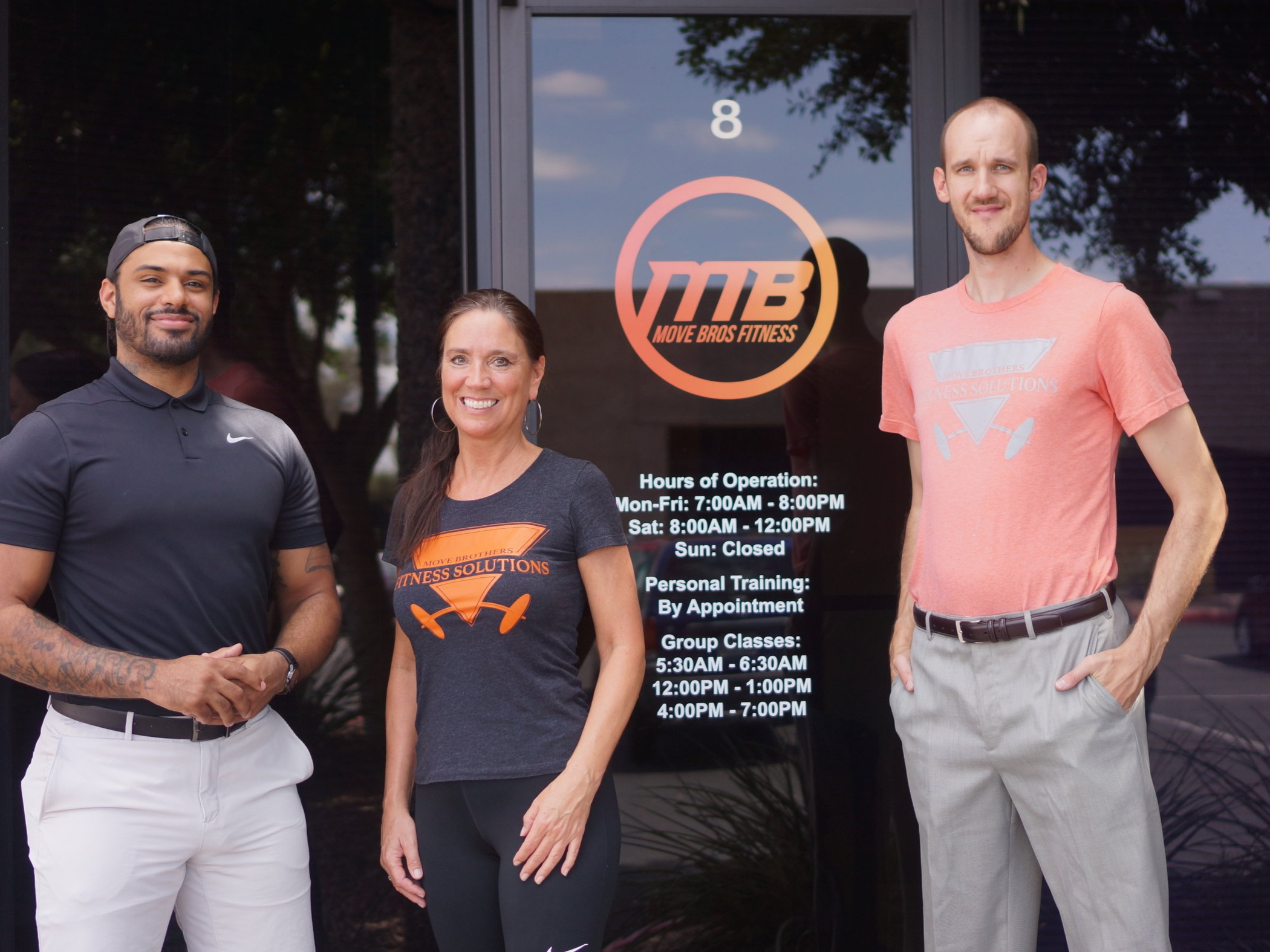 Eric, Ekklesia & Mara,    Move Bros Fitness Team