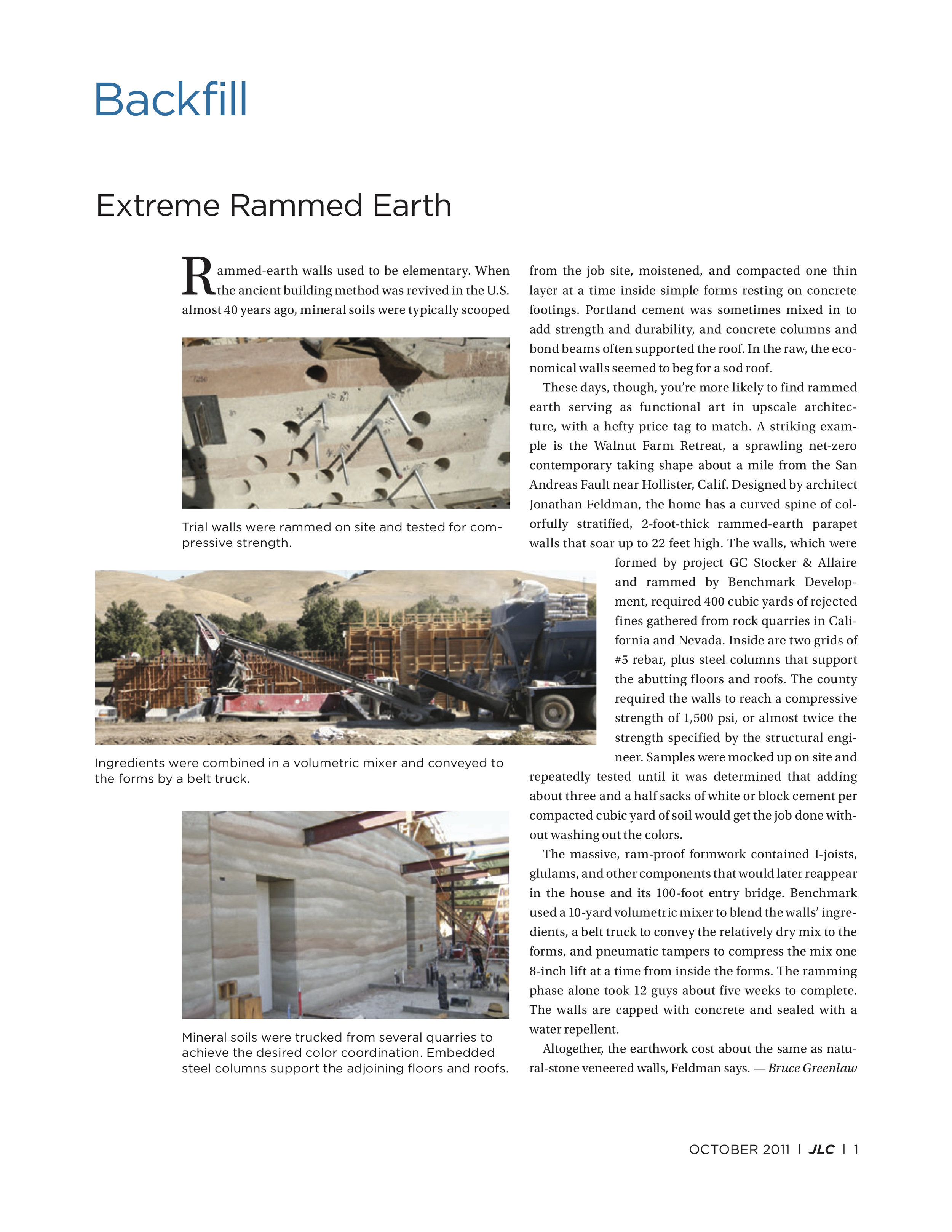 Extreme Rammed Earth