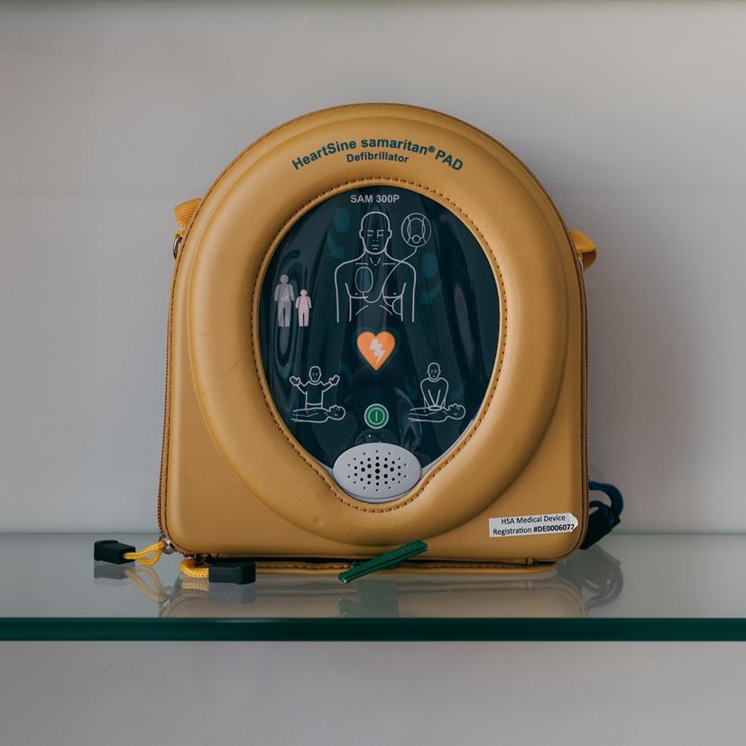 In-clinic life-saving defibrillator