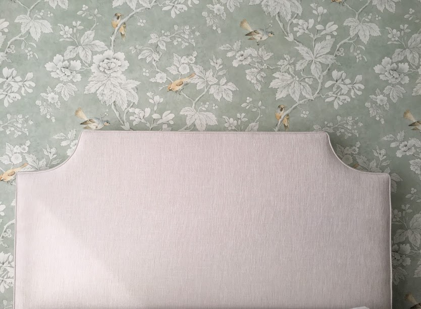 Queen size scallop topped bedhead