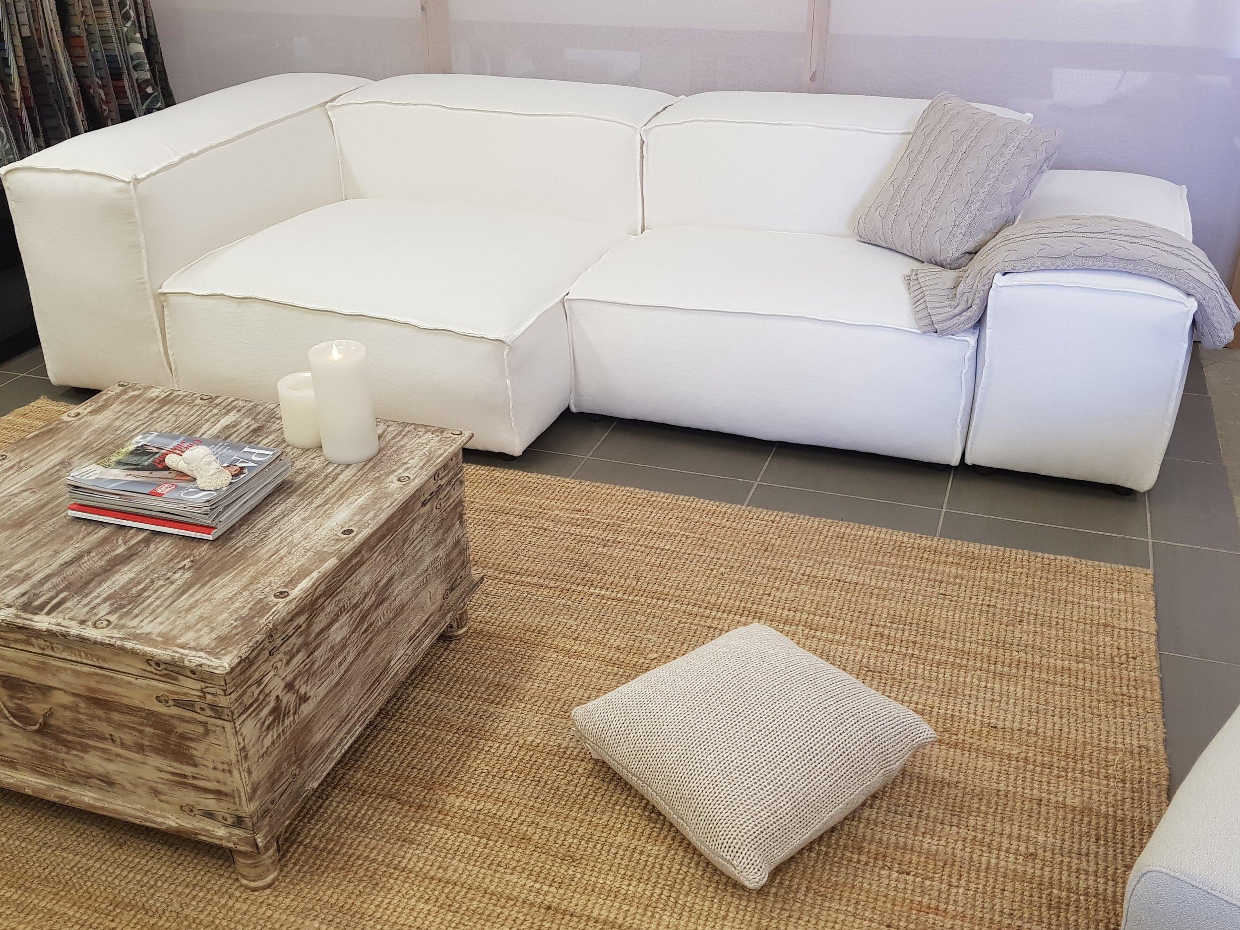 French seam Pod Sofa's