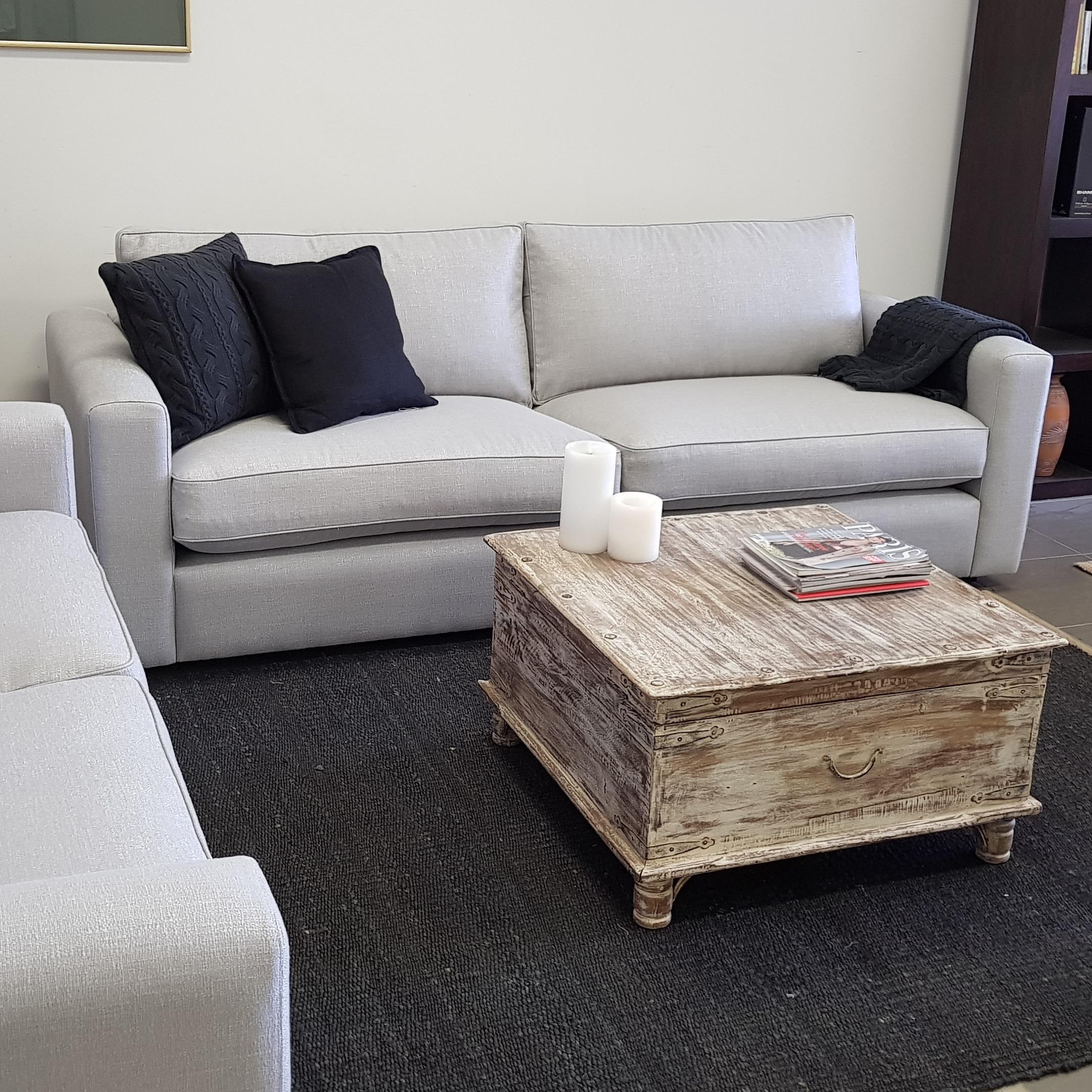 Oscar sofa range - Standard 15cm arm recessed plinth