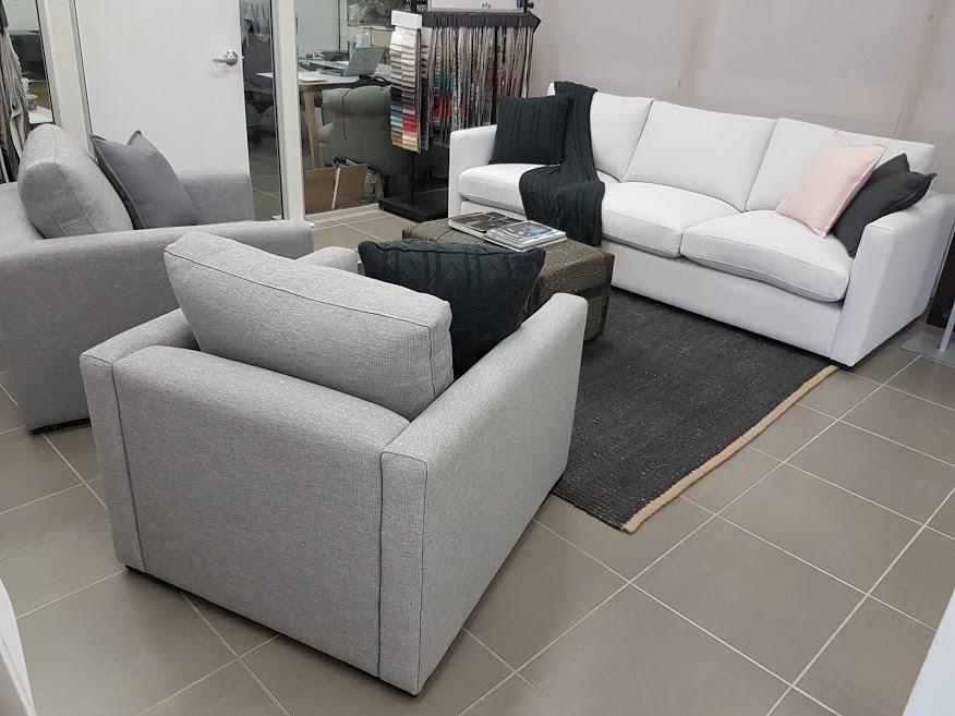 Oscar Sofa Range - Slim Arm 10 cm with Ash Plinth