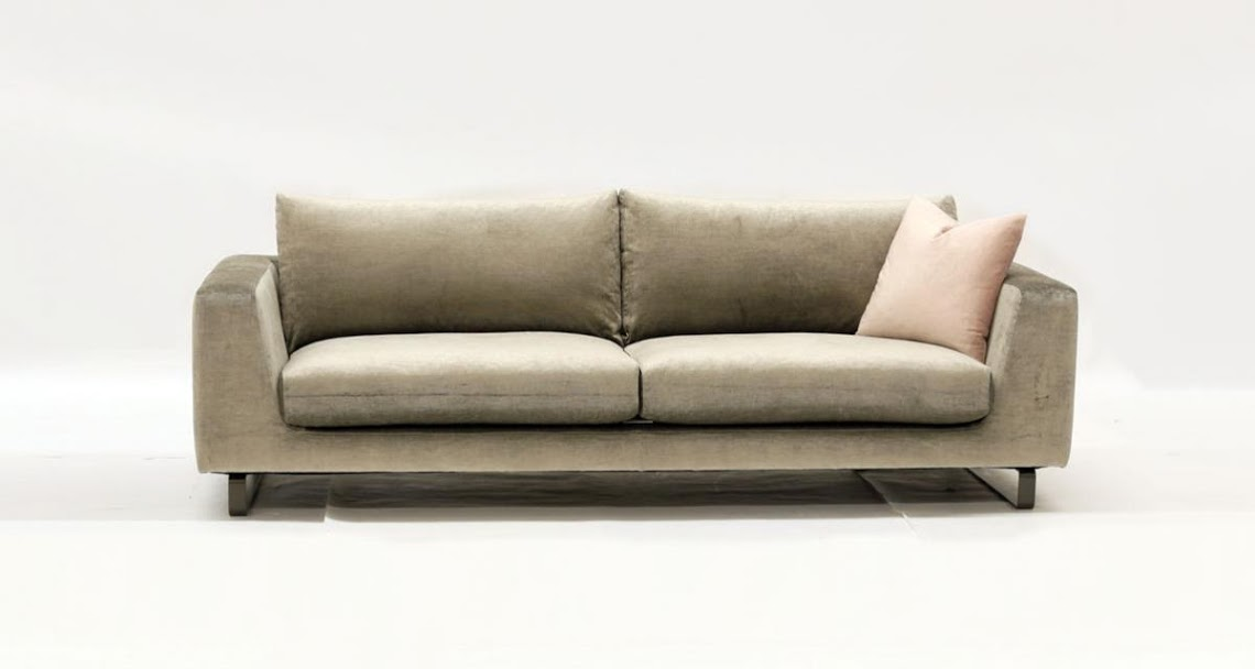 Vintage velvet Italian styled sofa