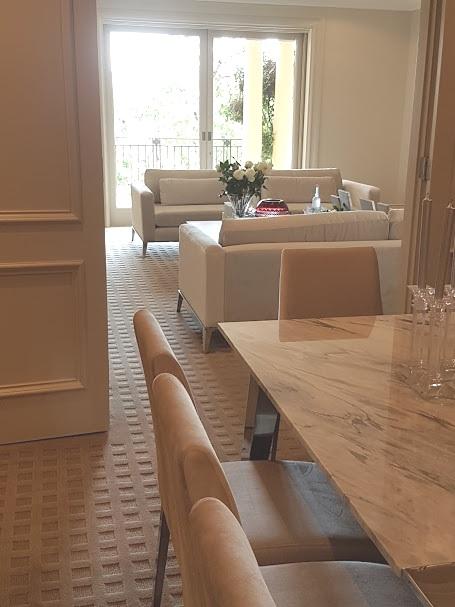 Formal velvet sofa's & dining chairs
