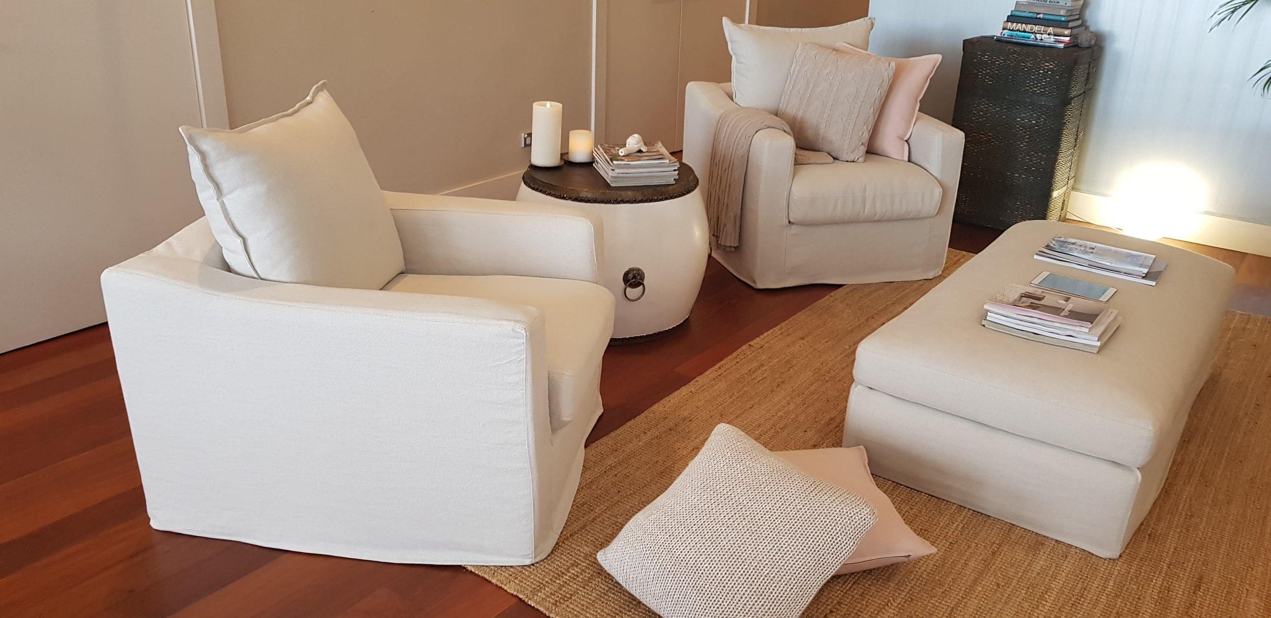 Karen Slip Cover Swivel Chairs