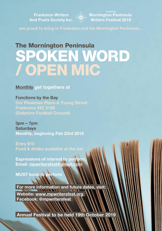 Spoken Word / Open Mic - digital flyer