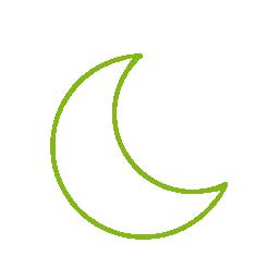 Lumina nocturnă   Dacă vă treziți în mijlocul nopții, iluminatul diminuat vă va îndruma calea pentru a nu vă orbi și a nu deranja pe cei care încă adorm.