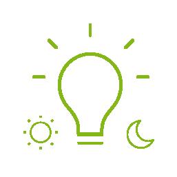 Iluminat automat   Dacă în cameră există suficientă lumină naturală, lămpile nu se vor aprinde automat. Dacă nu este suficientă lumină naturală, atunci când intri în cameră se va porni automat sistemul de iluminat potrivit pentru acel moment al zilei.