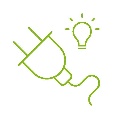"""Economisirea automată a energiei   Datorită funcțiilor """"Room Off"""" și """"House Off"""", puteți opri imediat iluminatul inutil prin atingerea unui întrerupător - ajutându-vă să economisiți energie."""