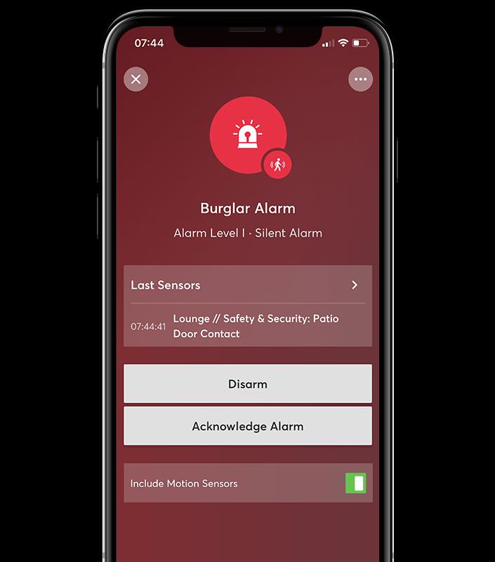 Alarmă silențioasă - Fiți notificat prin e-mail, sunați sau împingeți notificarea. Dacă este o alarmă falsă, puteți să confirmați notificarea fără a mai fi nevoie de acțiuni suplimentare.