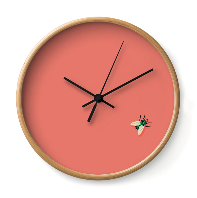 TIME FLIES   It's not a party until the practical joker shows up. This clock swears by fake poop and whoopee cushions.     Buy Online