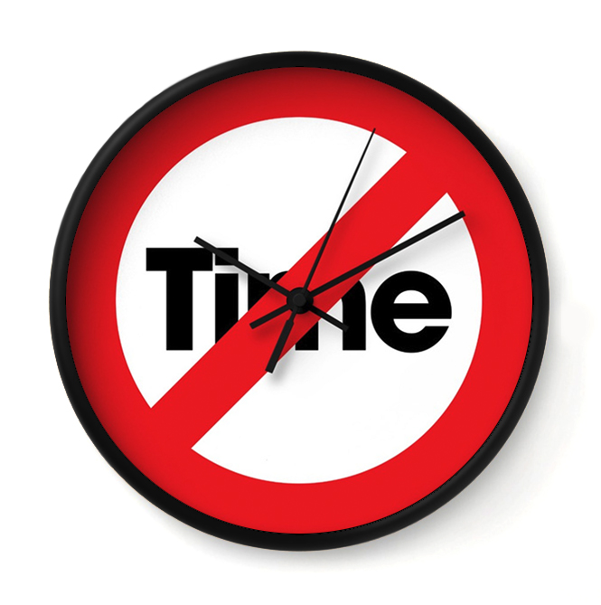 TIME OUT   This is an intervention. It's here when you need to take more drastic measures to break up with time.     Buy Online