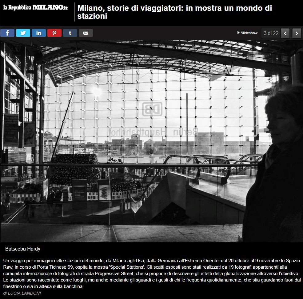 Read the article on our photo exhibition that appeared in    La Repubblica    by Lucia Landoni