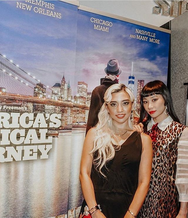 #throwbackthursday to @mademoiselle_yulia and @alisaueno at the premiere of the film America's Musical Journey in Tokyo, in collaboration with @visittheusa A campaign we loved working on! (📸 Photo credit- @alisaueno ). . . . . . . . #VisitTheUSA #unitedstories #americasmusicaljourney #premiere #movietheatre #filmpremiere #potd #ootd #fashionblogger #internationalfashionblogger #lifestyleblogger #tokyo #tokyojapan #discoverunder1k #discoverunder5k